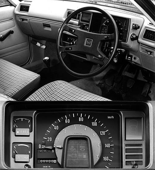 スピードメーターとタコメーターを同軸上にレイアウトした、集中ターゲットメーターを採用したコックピットは新鮮だった