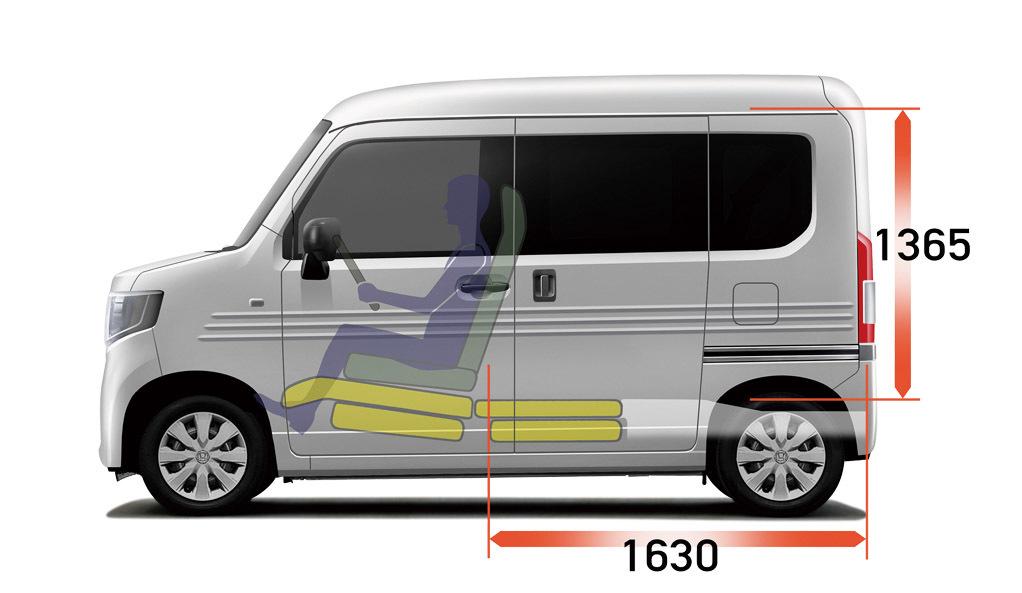 タント同様の助手席側センターピラーレスで使い勝手が向上。また運転席以外のシートはダイブダウンされフラットに