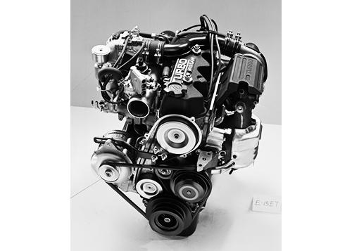 E15ETエンジンはベースの30psアップとなる115psを発生し、トヨタの1600㏄のDOHCエンジン、2T-GEUと最高出力で並び、トルクで2㎏m上回った。ちなみにターボはギャレット製