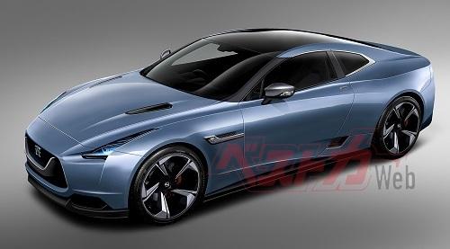 次期型GT-Rのベストカー予想CG。水野氏が作ったプラットフォーム、そして4WDからの離脱を前提に開発が進んでいたという