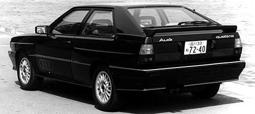 先進的なクーペフォルムとブリスターフェンダーがビッグ・クアトロの証しだ。タイヤサイズは205/60VR15だった