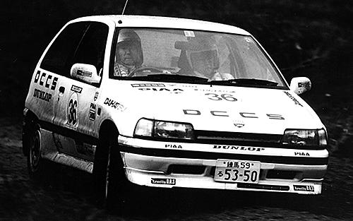 シャレードGTtiはDRS(ダイハツレーシングサービス)から国内ラリーのほか、WRCのサファリラリーにも挑戦。1987年から1993年まで5度クラス優勝を果たした