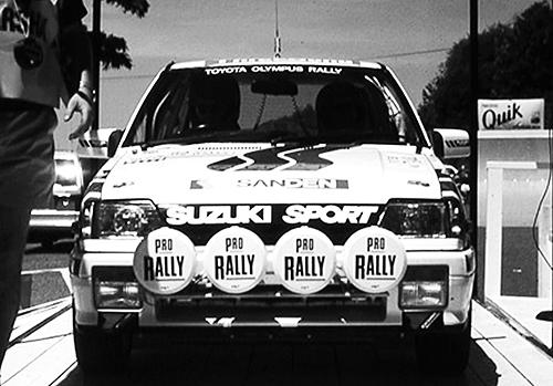 モンスター田嶋の手でWRCやパイクスピークヒルクライムなどに挑戦し、モータースポーツでも強さをアピールした。写真は当時アメリカで行われていたオリンパスラリーのもの