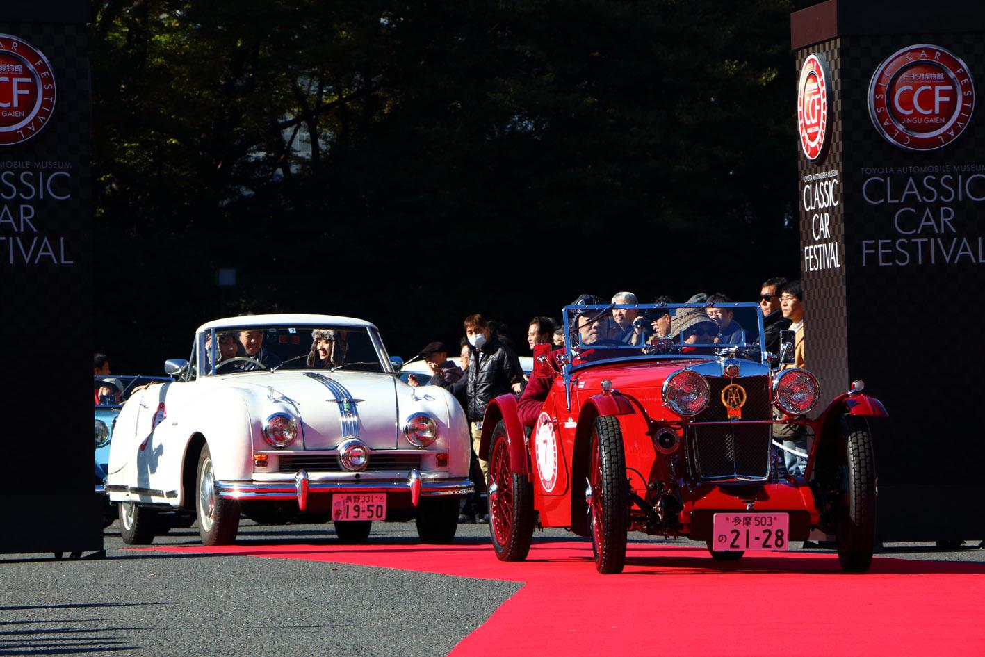恒例のパレードランにも100台程の車両が参加。神宮外苑から銀座にかけてのコースを駆け抜けた