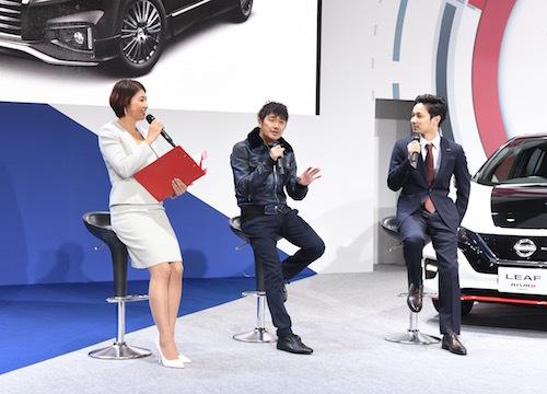 ゲストとして登場した近藤監督とデザイン担当の有田翔氏。二人の服装のようにカジュアルでもフォーマルでもOKなクルマだ