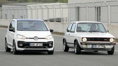 UP! GTIのサイズは初代ゴルフGTIに比べて全長が約1cm短く、全幅はほぼ同じ。まさに初代ゴルフGTIの再来というべきサイズ感だ