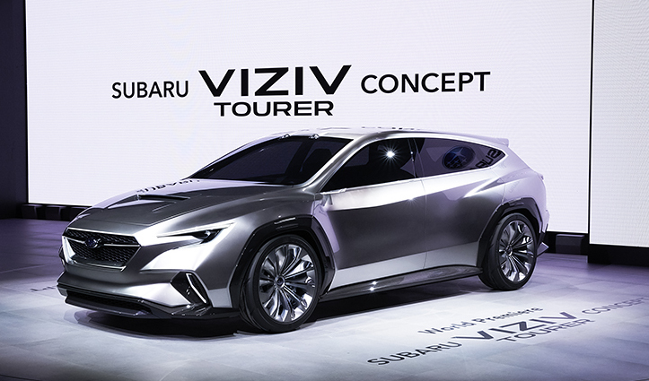 今回ジュネーブショーで世界初披露された「SUBARU VIZIV TOURER CONCEPT」
