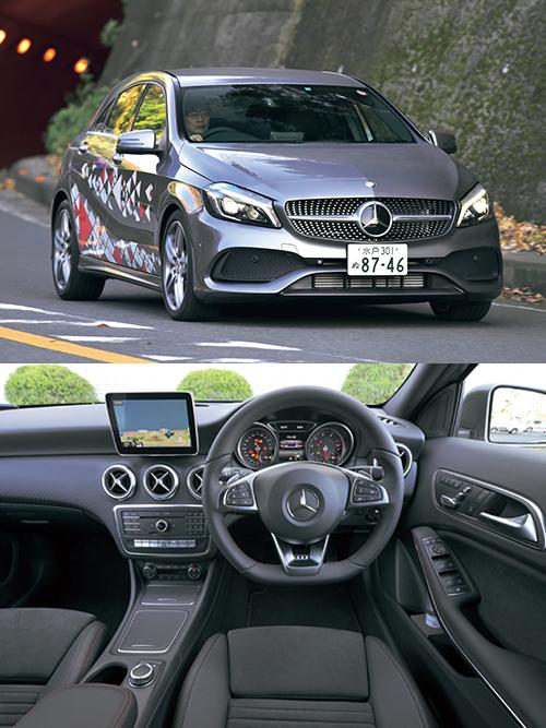 価格:298万〜720万円。(上)現行型は'13年に日本で発売。エンジンは1.6ℓターボから2ℓターボまでラインアップ(下)上級セダンのようなデザインを採用するがベンツ基準ではややチープなインテリア
