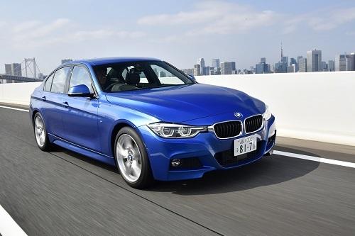 BMW 320d Mスポーツ(608万円)/2Lディーゼルターボ、最高出力:190ps/4000rpm、最大トルク:40.8kgm/1750-2500rpm、JC08モード燃費:21.4km/L