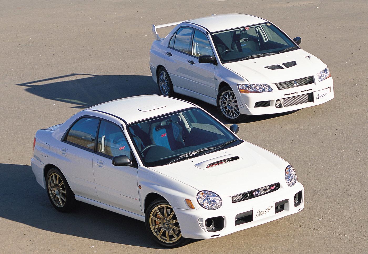 90年代〜2000年代前半、日本自動車界の名勝負といえばランエボ対インプレッサの戦いだった
