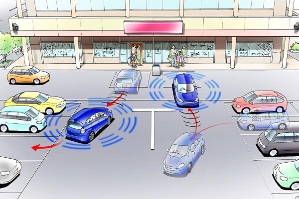 ホンダが2013年に公開した自動バレーパーキングのイメージ図