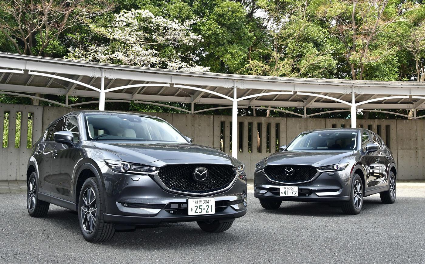 左がガソリンの改良モデルで、右が初期モデル。外観は変化なし